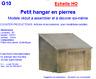 Colinter Productions - maquette échelle HO - petit hangar en pierres