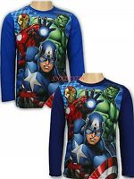 Disney Boys Characters AVENGERS Cotton Long Sleeves T.Shirt Tops,4,6,8,10,years