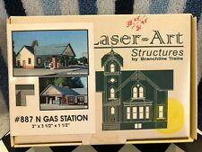 CNC69 N Scale Laser-Art Structures #887 Gas Station NIB