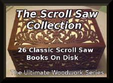 156 CLASSIC SCROLL SAW BOOKS ON DISK - SCROLL SAW PATTERNS - WOODWORK- CARPENTRY