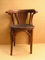 Old Antique Vintage Wooden Wood Thonet Mundus Style Bentwood Chair Stool 1958