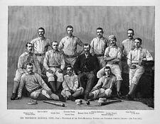 BASEBALL PROVIDENCE BASE-BALL CLUB TEAM MEMBERS BASEBALL BAT CAP 1882 GENEALOGY