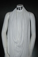 Silky Micro Modal Supima  4 Ways Spandex Jersey  Knit Fabric Eco-Friendly White