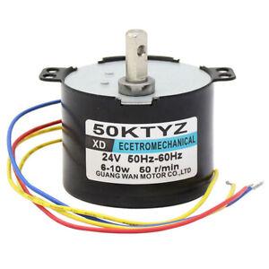 AC24V 6-10W 2.5-50RPM 50KTYZ Synchronous Motor Permanent Magnet Gearmotor CW/CCW