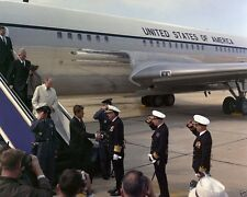 President John F. Kennedy departs Air Force One at NAS Oceana New 8x10 Photo