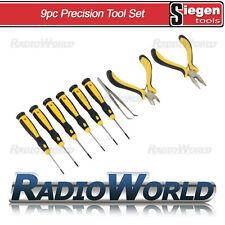Sealey Siegan 9pc Precision Tool Set Slotted Phillips Pliers Tweezers S0755