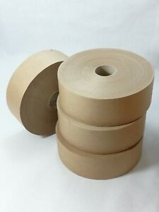 1 Roll of Water Activated Paper Tape 48mm X 200 M Strong Tamper Proof Gummed