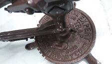 Antique Cast Iron Remington Arms Expert Trap Clay Pigeon Skeet Shooter
