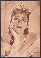 LUISE RAINER 12 ATTRICE ACTRESS SCHAUSPIELERIN CINEMA MOVIE Cartolina 1938