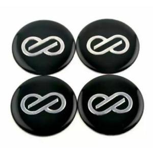 4pcs 45mm Enkei Black Wheel Center Stickers Rim Stickers Hub Stickers Badges