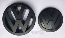 VW GOLF MK6/MK VI MATT BLACK BADGE/EMBLEM/LOGO FOR BONNET AND BOOT OEM FITMENT