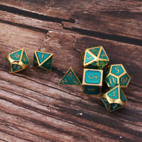 7x Polyhedral Metal Dices Set Board Game Casino Gambling Entertainment Toy D