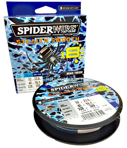 Spiderwire Stealth Smooth 8 Blue Camo Braid 150m + 300m Fishing Line 8 Carrier