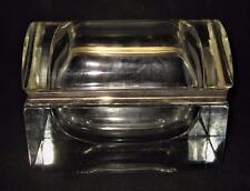 Murano, Italy, G.S.E. Ottone Galvanizzat ORO K.24, Clear Glass Jewelry Casket