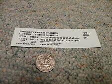 Herald King decals HO Udderly Fresh Dairies UDRX black    XX323