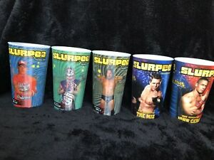 Brand New Never Used Set Of 8 WWE Summer Slam Slurpee 7 Eleven Cups 2010