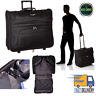 Folding Garment Bag Luggage Carry Suitcase Travel Wheels Rolling Wheeled Case