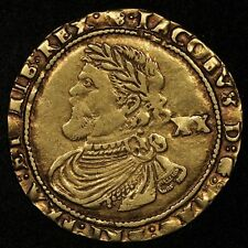 GREAT BRITAIN GOLD LAUREL JAMES I, 1620-21, 3RD COINAGE, ROSE MINT MARK S-2638