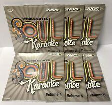 Zoom Karaoke Whole Lotta Soul & Motown - Volumes 1 to 6 - CD+G Set - 138 Tracks