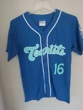 2016 MiLB Asheville Tourists SGA Button Front Baseball Jersey Youth Large Rocks