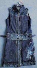 TOP ANGEBOT!! Jeans-Kleid Desigual Materialmix 40 (38-40) mit Stretch Teile blau