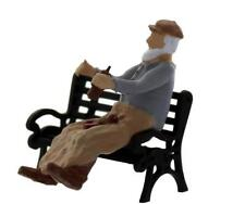 Homeless BUM sitting on bench with BOTTLE in hand comes Finished O Scale