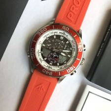 Citizen Promaster Marine Watch * Eco-Drive Yacht JR4061-18E Orange Rubber