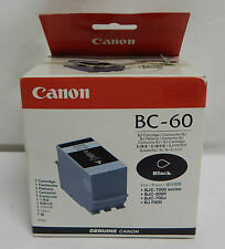 CANON BC-60 PRINTER CARTRIDGE BLACK BJC-7000 BJC-8000 BJC-700J BJ F800 GENUINE