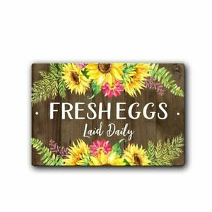 Fresh Eggs Daily Chicken Coop Sign