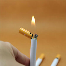 WOW New Windproof Jet Flame Cigarette Shaped Refillable Butane Gas Cigar Lighter