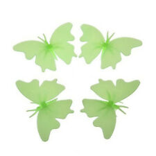 4 fluorescent phosphorescent butterfly decor Child Room Stickers nightlight K4G1