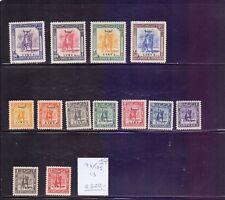 Libya  1951  -  Cerenaica Overprinted stamps 13v , Scott# 122/34 -  Mint LH