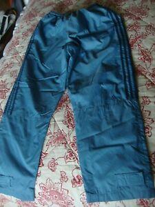 "EUC! Adidas Nylon Light Blue Track Pants Youth Size M 28"" Waist 29"" Inseam"