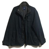 CELIO Y2K Cotton Mens Gents L Padded Jacket Navy Blue Casual Wear