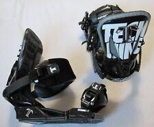 NEW TECHNINE T9 SNOWBOARD BINDINGS - MEDIUM - BLACK