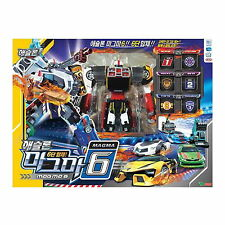 NEW TOBOT ATHLON MAGMA 6 Six /  6 Cars Copolymer Transformer Robot Korean TV Toy