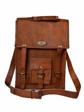 Women Genuine Vintage GVB Goat Leather Messenger Shoulder Laptop Bag Briefcase