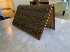 Coach Checkbook Cover Holder Wallet