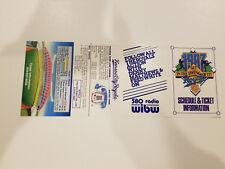 Kansas City Royals 1987 MLB Baseball Pocket Schedule - WIBW 580 Radio