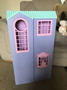 Vintage Barbie Dream Town House Purple Pink Folding