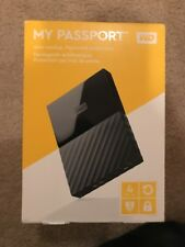 NEW Western Digital My Passport 4TB USB 3.0 Portable External Hard Drive Black