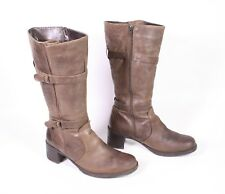 8S Young Spirit Damen Stiefel Boots Leder braun Gr. 41 Biker Shabby-Look