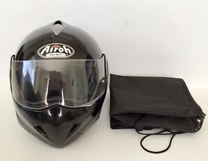 AIROH Black Open Face Motorcycle Motorcycle Scooter Helmet Size S - 55-56