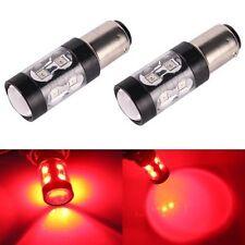 JDM ASTAR 2x 50W Pure Red 1157 7528 BAY15D Brake Tail Stop Turn LED Lights Bulbs