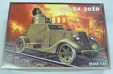 Vintage RPM BA-20 ZD 1/35 Russian Armored Car on Railroad Track