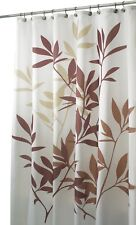 "Inter Design 35640 Leaves Fabric Shower Curtain - Standard, 72"" x 72"", Brown"