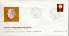 1967 Netherland Regular Issue Queen Juliana 95 C Official Cachet Unaddressed Fdc