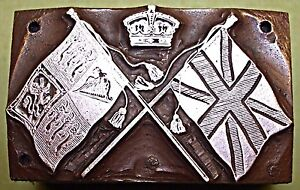 "THE BRITISH ""ROYAL STANDARD & THE UNION FLAG"" PRINTING BLOCK."