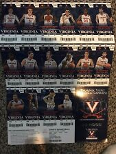 2016-17 VIRGINIA CAVALIERS COLLEGE BASKETBALL TICKET SHEET SET STRIP STUBS