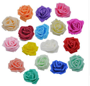 Beautif 7-8CM Artificial PE Foam Roses Flowers Heads DIY Home Wedding Decora